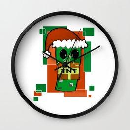 Christmas Creeper Wall Clock
