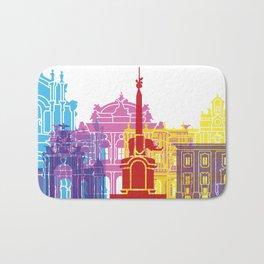 Catania skyline pop Bath Mat