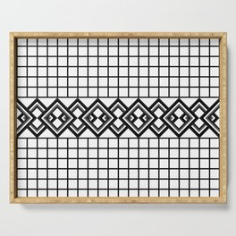Links on a grid Serving Tray