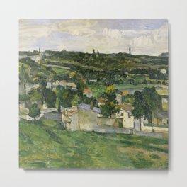 Stolen Art - View of Auvers-sur-Oise by Paul Cezanne Metal Print