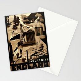 poster England Lancashire Art Deco Ralph Mott Stationery Cards