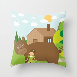 You let me ride on your back? Throw Pillow