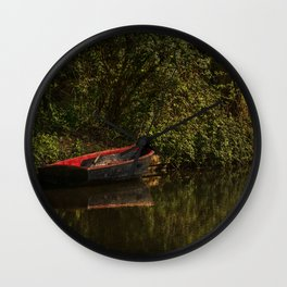 Dinghy On The Oxford Canal Wall Clock