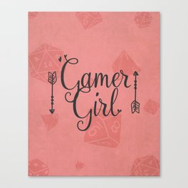 Gamer Girl Canvas Print