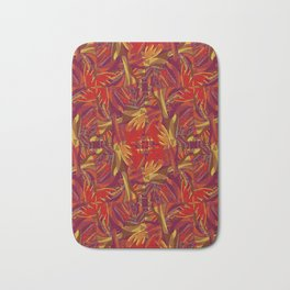 Colorful Abstract Ethnic Style Pattern Bath Mat