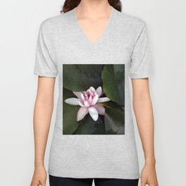 Beautiful Lotus Flower Unisex V-Neck