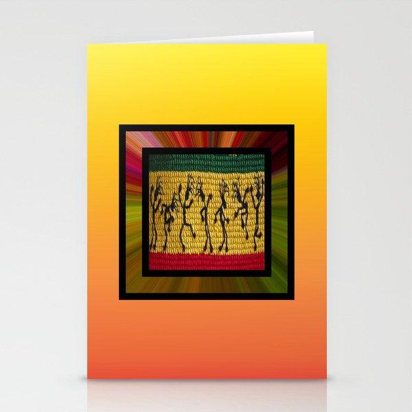 lively up reggae dancers (square) Stationery Cards