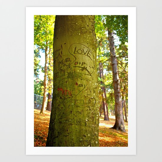Autumn love Art Print