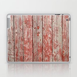 Rustic red wood Laptop & iPad Skin