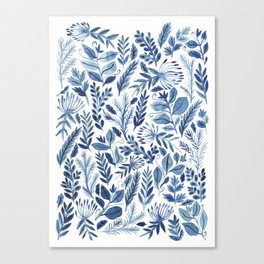 indigo scatter Canvas Print