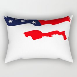 MY AMERICAN FLAG IF YOU DONT LOVE IT LEAVE BEFORE WE DEPORT YOU Rectangular Pillow