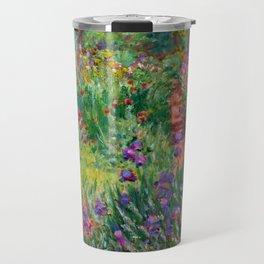 "Claude Monet ""The Iris Garden at Giverny"", 1899-1900 Travel Mug"