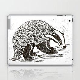 Climbing Badger Lino Print Laptop & iPad Skin