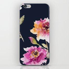 Dhalia -navy iPhone Skin