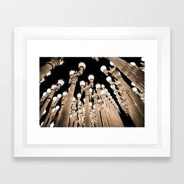 LACMA LIGHTS Framed Art Print