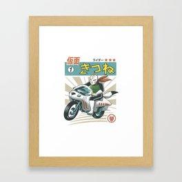 Kitsune Kamen Rider Framed Art Print