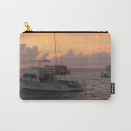 Storm on the Horizon by Dana Tinnell - Twilight Paintings Carry-All Pouch