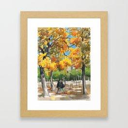My favorite garden Framed Art Print