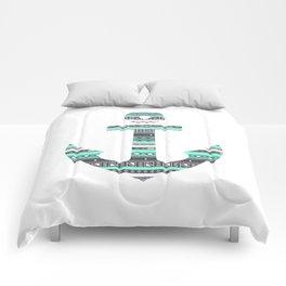 Tiffany Mint Aztec Pattern Anchor Comforters