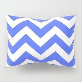 Neon blue - turquoise color - Zigzag Chevron Pattern Pillow Sham