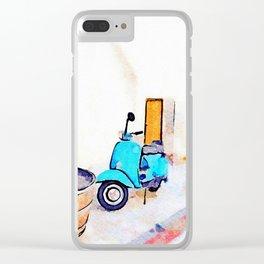 Scooter in Tortora Clear iPhone Case
