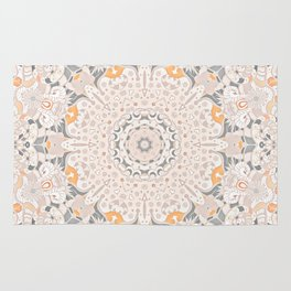 BOHO SUMMER JOURNEY MANDALA - SUNSHINE YELLOW GREY Rug