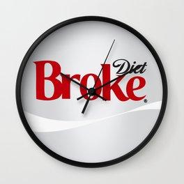 Diet Broke Wall Clock