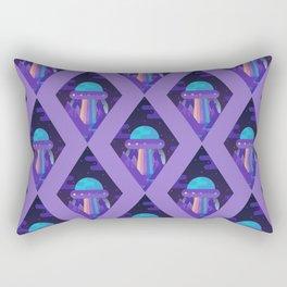 ROYGBIV Flying-Saucer Rectangular Pillow