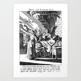 Lazarus Dies Art Print