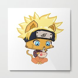 Cat Naruto Metal Print