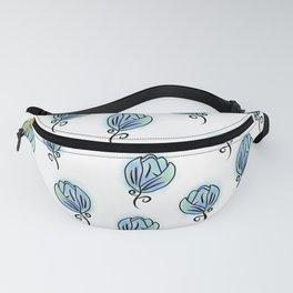 Blue Flowers Fanny Pack