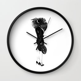 Corpse Flower and Claw Wall Clock