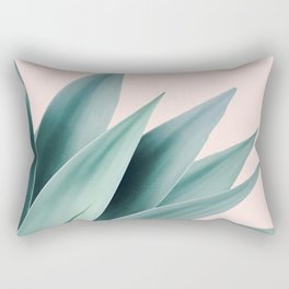 Agave flare II - peach Rectangular Pillow