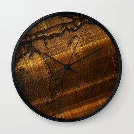Tiger's Eye Wall Clock