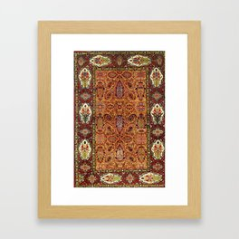 Sehna Kurdish Northwest Persian Rug Print Framed Art Print