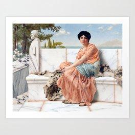 John William Godward Reverie Art Print