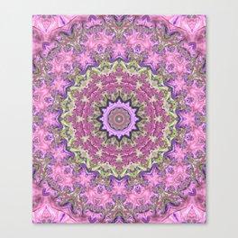 Vibrant Fractal Kaleidoscope Canvas Print