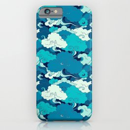 Green Japanese Waves iPhone Case