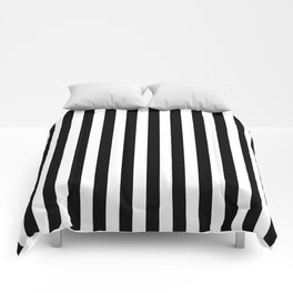 Stripes Black and White Vertical Comforters