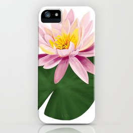 Pink Water Lilly iPhone Case