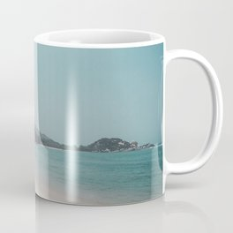 Beautiful white sands of the paradise beach in Parque Tayrona on the Caribbean coast of Colombia Coffee Mug
