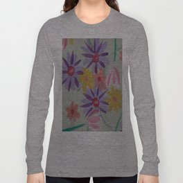 Rain Flowers Long Sleeve T-shirt