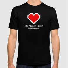 You Fill my Heart (Containers) MEDIUM Mens Fitted Tee Black
