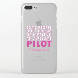 PILOT'S MOM Clear iPhone Case