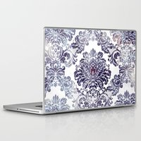 damask Laptop & iPad Skins featuring Blueberry Damask by Dena Brender Photography