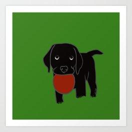 Black Lab Puppy Art Print