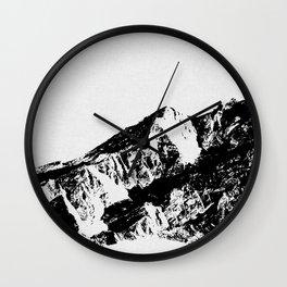 Mountains I Wall Clock