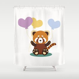 Lovely Red Panda Shower Curtain