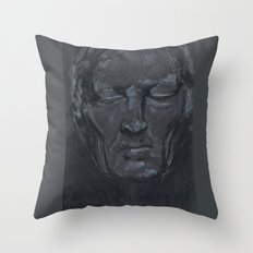 Portrait of man with eyes closed Throw Pillow