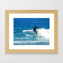 Summertime Surfing Framed Art Print